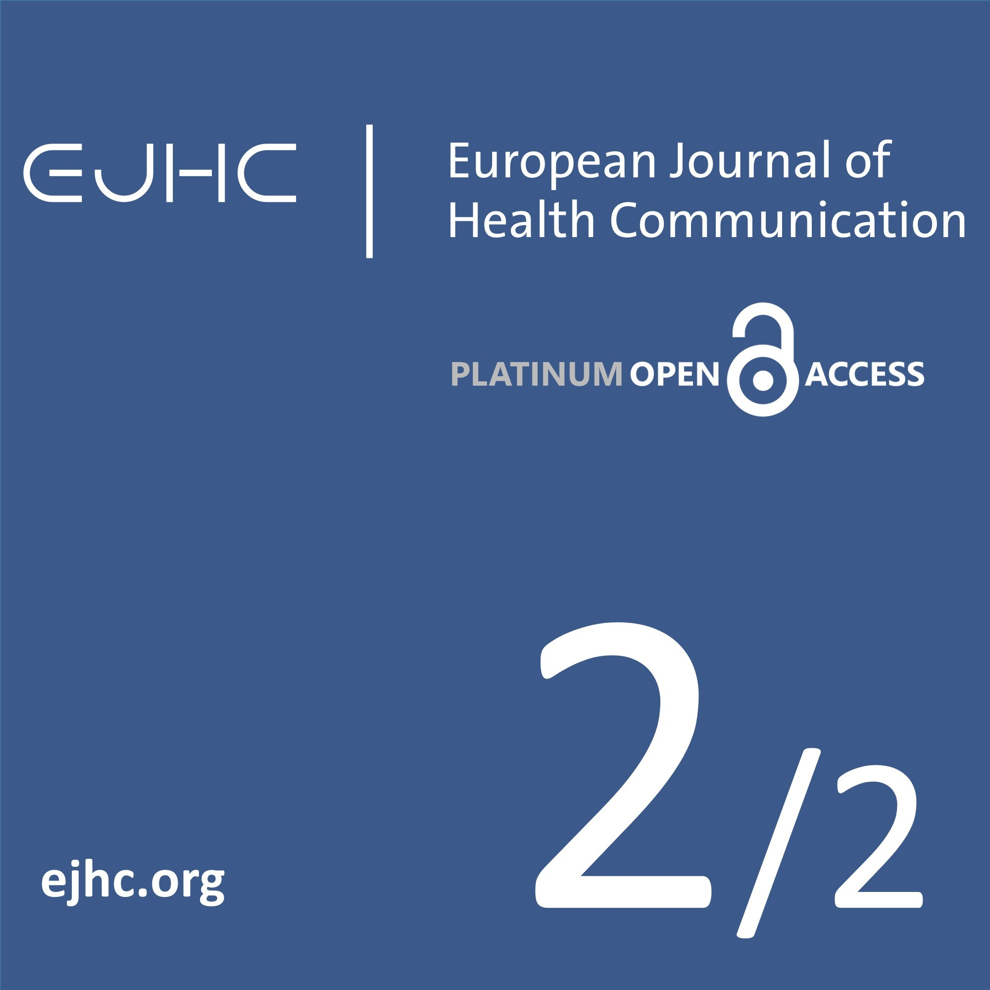 View Vol. 2 No. 2 (2021): Special Issue on Social Aspects of Health Communication